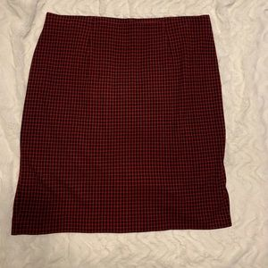Cute Red & Black Skirt